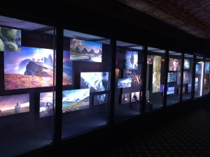 The photo display on the lower floor of the El Capitan. Photo by Karen Salkin.