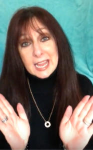 Karen Salkin in one of her YouTube videos, to help you picture her saying all this.