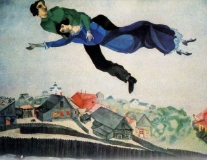 """Over The Town"" by Marc Chagall.  See what I mean about the poses?"