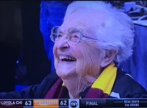 Sister Jean.  Look at that heavenly face.  I adore this picture!  Photo by Karen Salkin, as is the one at the top of this page.