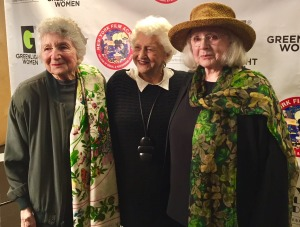 Marcia Nasitir, Marion Rosenberg, and Piper Laurie, pre-screening. Photo by Roz Wolf.