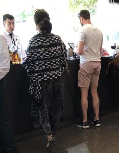 Proof that some people went to the opening in shorts!!!  What was that guy thinking??? Photo by Mr. X.