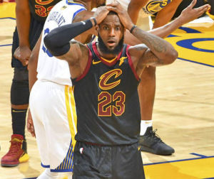 LeBron James, realizing that he cannot win with this current Cavs team.