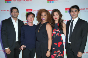 The cast of As We Babble On at the opening night post-show reception. Photo by Steven Lam.