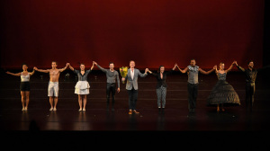 The curtain call for A Million Voices, with the choreographer in the middle.  Photo by Rob Latour.