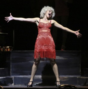 Laura Bell Bundy as sweet Charity.  Photo by Michael Lamont, as is the one of her at the top of this page.