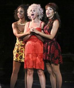 (L-R) Krystal Joy Brown, Laura Bell Bundy, and Yvette Gonzalez-Nacer. Photo by Michael Lamont.