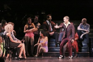 The cast of Sweet Charity, with Jon Jon Briones in the center(ish.) Photo by Michael Lamont.