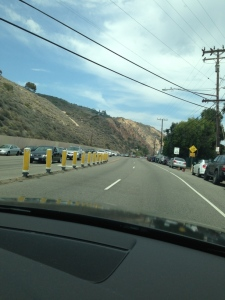 Coming down PCH, on one of my many anniversary trips.  Photo by Karen Salkin.