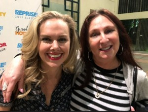 New besties (if only for this pic) Laura Bell Bundy and Karen Salkin.