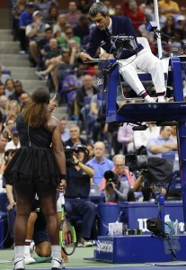 Serena Williams berating Carlos Ramos.