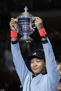 2018 US Open Champion Naomi Osaka.