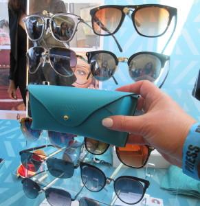 Karen Salkin's hand modeling the gorgeous glasses case. Photo by Denis Wilke.