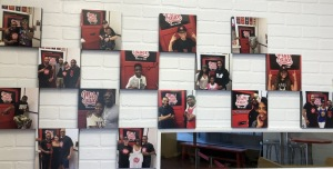 The wall of happy Mild Sauce customers. Maybe YOU can make it on there! Photo by Karen Salkin.