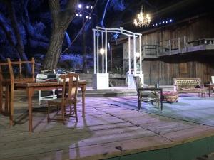 The set, pre-show.  Photo by Karen Salkin.