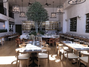 The stunning Fig & Olive interior.  Photo by Karen Salkin.