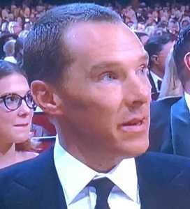 Benedict Cumberbatch's new short 'do. Photo by Karen Salkin.