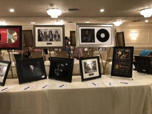 Just a small part of the silent auction.  Photo by Karen Salkin.