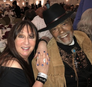 Karen Salkin and Rosey Grier.   Photo by Diane Levine.