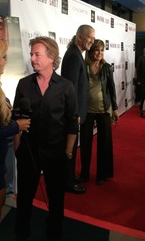 David Spade in the foreground, with Patrick Duffy and Linda Gray behind him.  Photo by RozWolfPR.