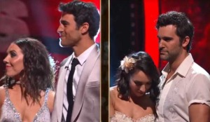 The two couples who got eliminated in the semi-final--Joe, the worst one on the left, and the best one, Juan Pablo, on the right.