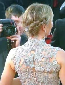 Emily Blunt's back. Photo by Karen Salkin.