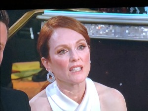Some of the guests' faces during Jeff bridges speech.  Julianne Moore...