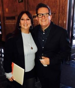 Karen Salkin and Sir Matthew Bourne at a previous meeting.  Photo by Mr. X.