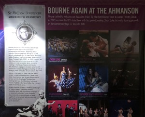 And the original showed-up in this giant poster on the wall of one of the side lobbies of the Ahmanson!  Can you spot it?  Photo by Karen Salkin.
