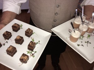 Two of the yummy desserts!  Photo by Karen Salkin.