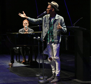 Matt Gould on piano, and Griffin Matthews. Photo by Karen Salkin.