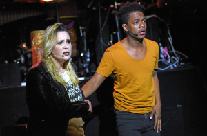 Emma Hunton (that's not her 'do that I saw,)  and Jamar Williams. Photo by Kevin Parry.