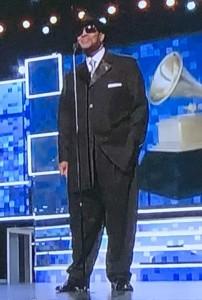 Jimmy Jam in his too-big suit!  Photo by Karen Salkin.