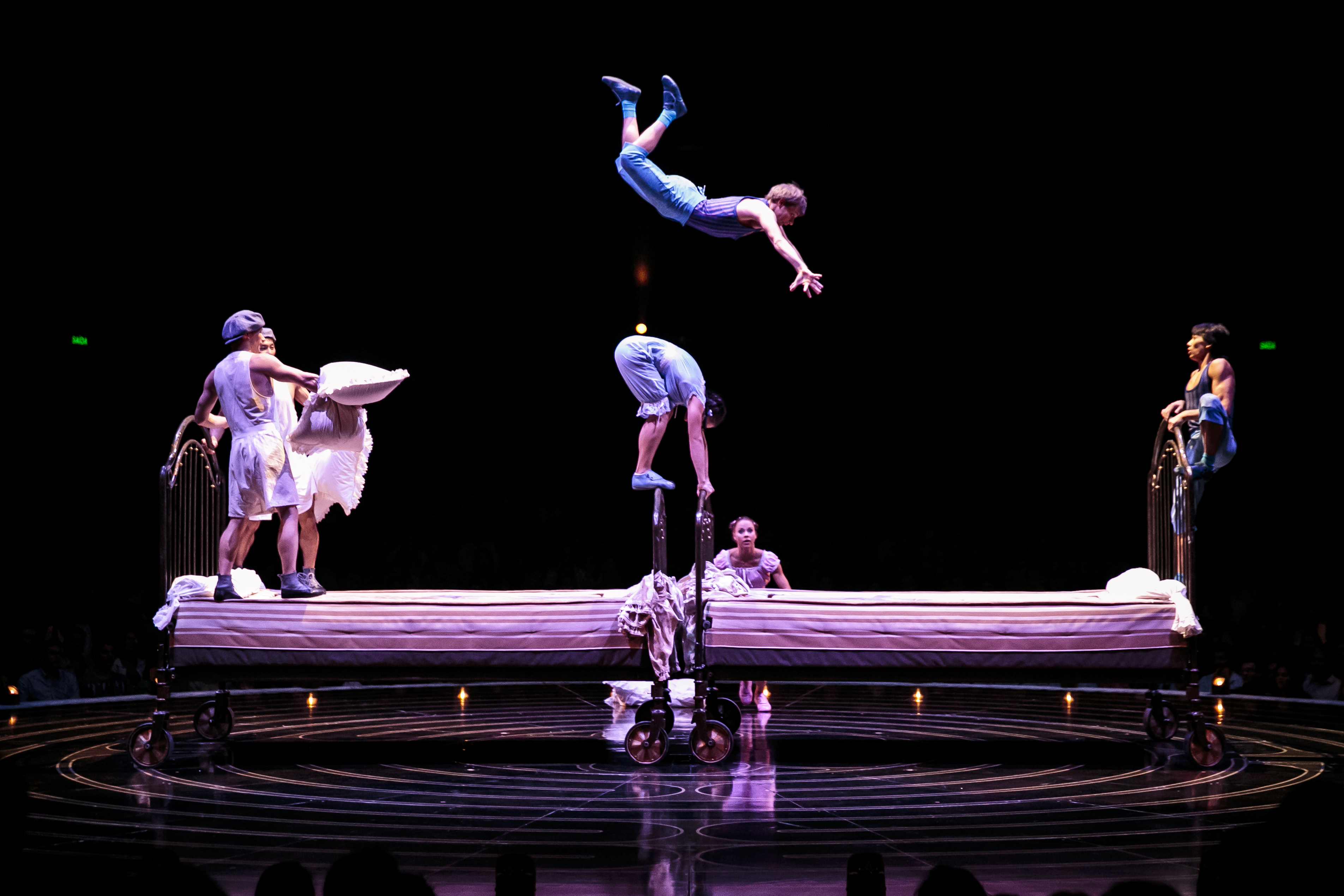 The trampoline act. Photo courtesy of Cirque du Soleil.