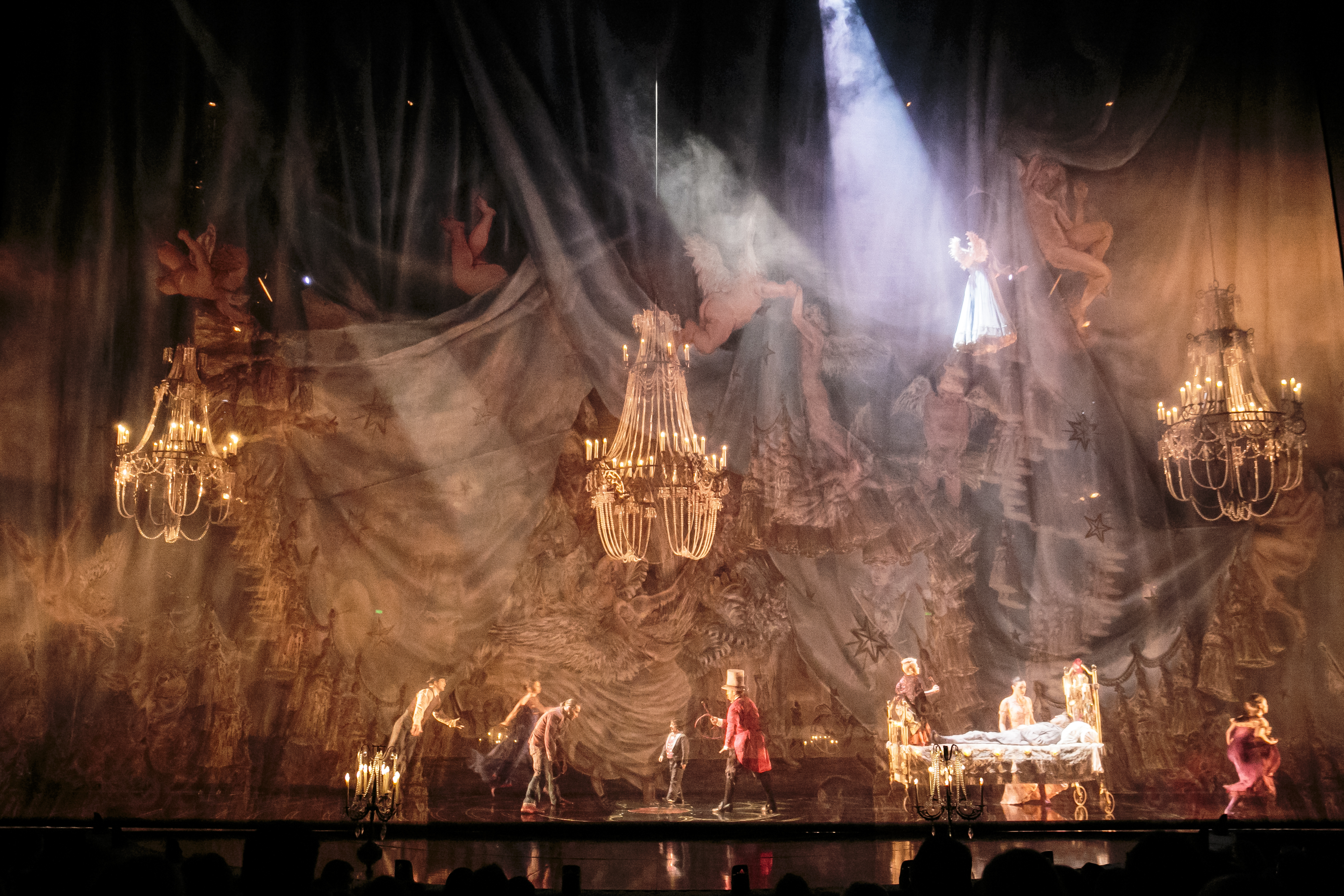 The opening of Corteo. Photo courtesy of Cirque du Soleil, as is the one at the top of the page.