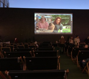 The screen on the Montalban Rooftop. Photo by Karen Salkin.