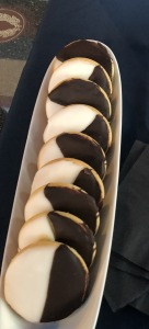 The pre-show blac-and-white cookies.  Photo by Karen Salkin.