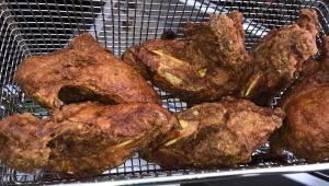 Gus' Frried Chicken being cooked.  Photo by Karen Salkin.