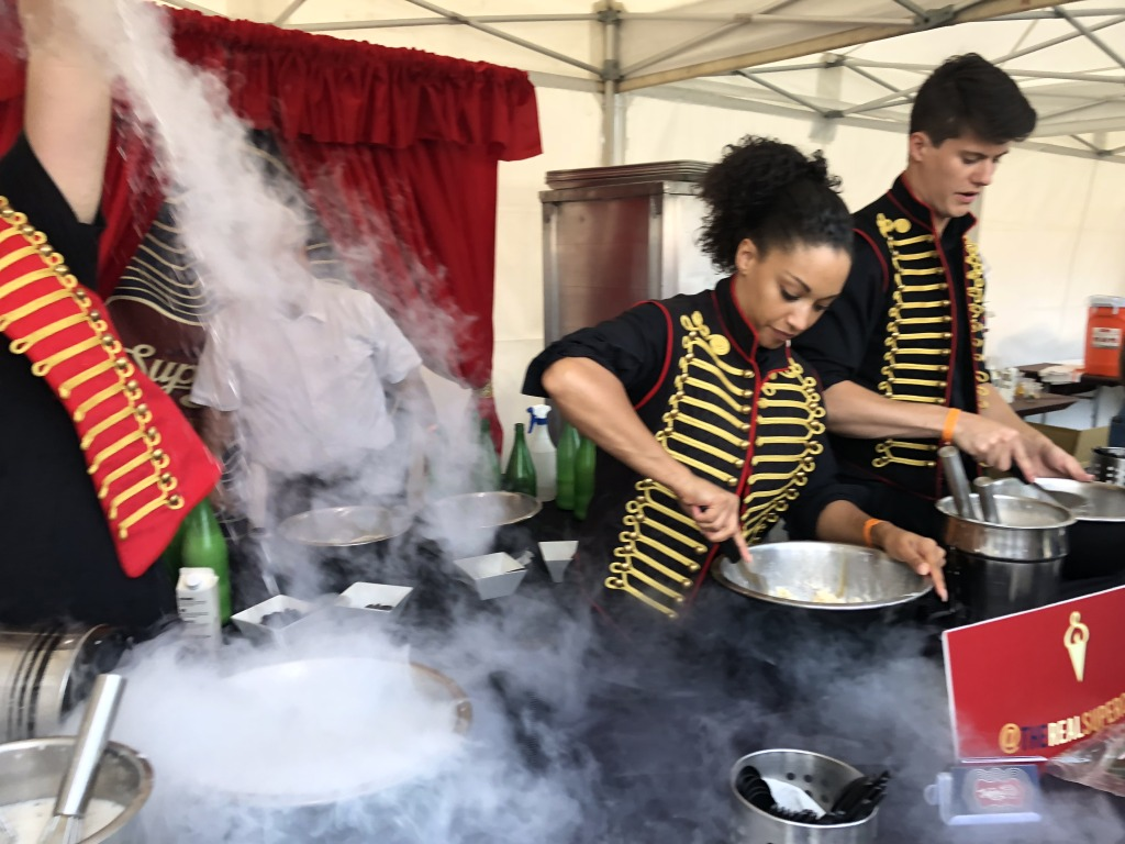 The Nitro ice cream and sorbet being made.  Photo by Karen Salkin.