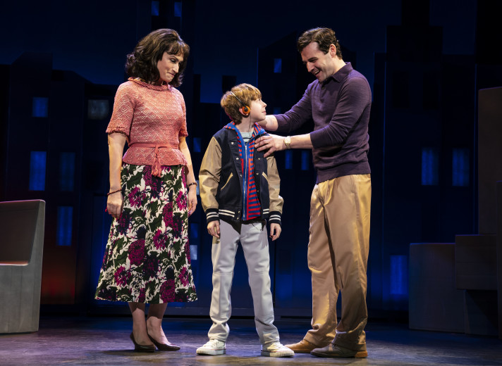 Eden Espinosa, Thatcher Jacobs, and Max von Essen. Photo by Joan Marcus.