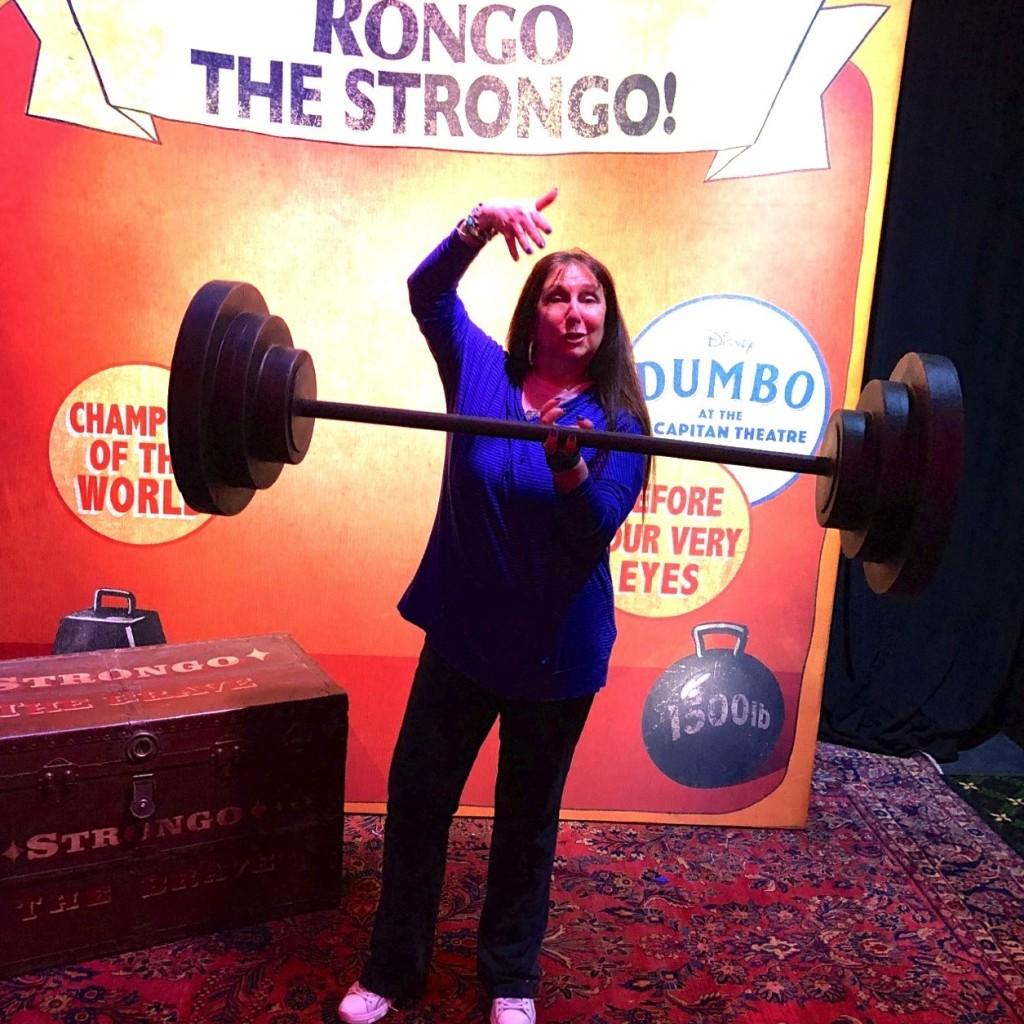 Karen Salkin as Rongo the Strongo! Photo by Mr. X.