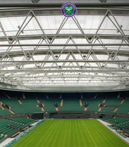 Centre Court, with the roof closed.