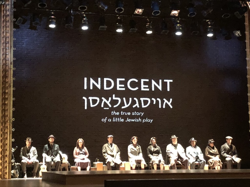The company on stage before Indecent begins.  Photo by Karen Salkin.