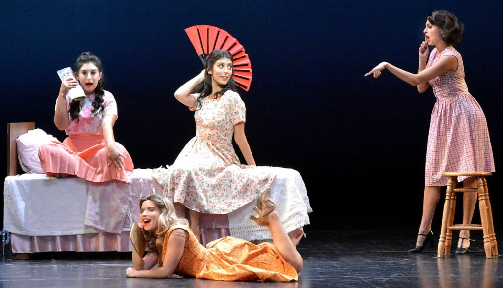 Taleen Shrikian, Giselle Torres, Cheyenne Omani, and Veronica Gutierrez. Photo by Ed Krieger.