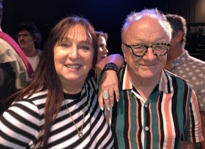 Karen Salkin and Peter asher.  Photo by Roz Wolf.