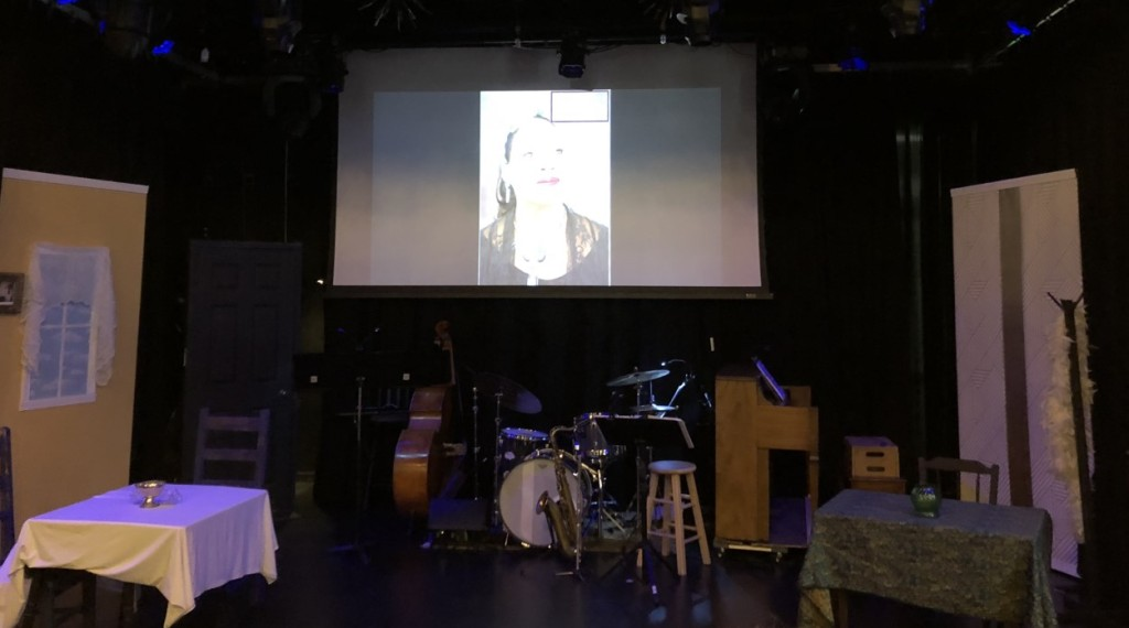 The set before the show. Photo by Karen Salkin.