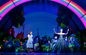 Danielle Waid as Dorothy and Robin Evan Willis as Glinda. Original Toronto cast photo by Cylla Von Tiedemann.