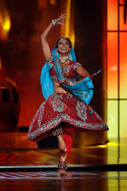 This year's winner, performing a Bollywood dance number as her talent.
