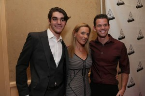 The cast of Switched At Birth. (L to R)  New cast member RJ Mitte, Marlee Matlin, Ryan Lane. Photo by Alex Wyman.