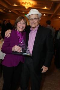 PresenterGeri Jewell with honoree Norman Lear. Photo by Alex Wyman.